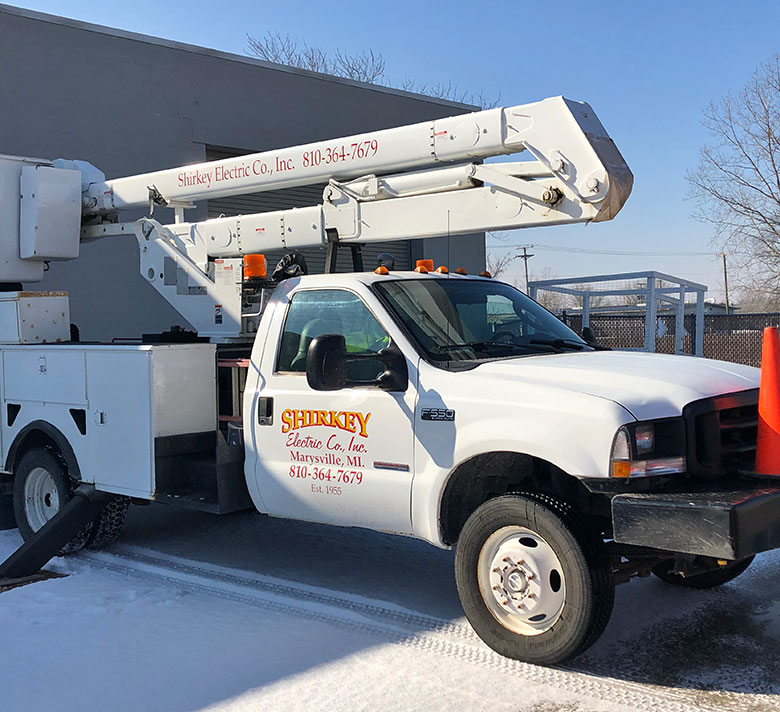 Electrical contractor truck in St. Clair county, mi